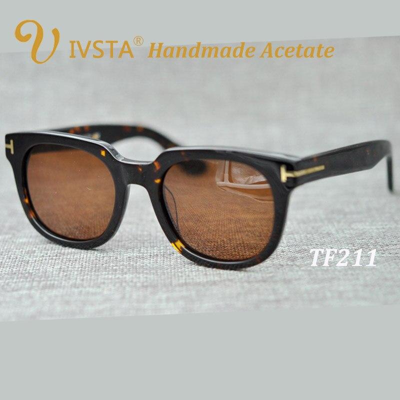 IVSTA TF 211 משקפי שמש עם לוגו אמיתי בעבודת יד אצטט מסגרת מקוטב Steampunk נשים גברים מותג גדול גדול Flip קליפ על