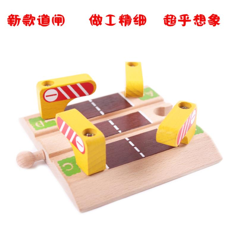 Christmas Gift Wooden Bi gate Railroad Crossing Track fit
