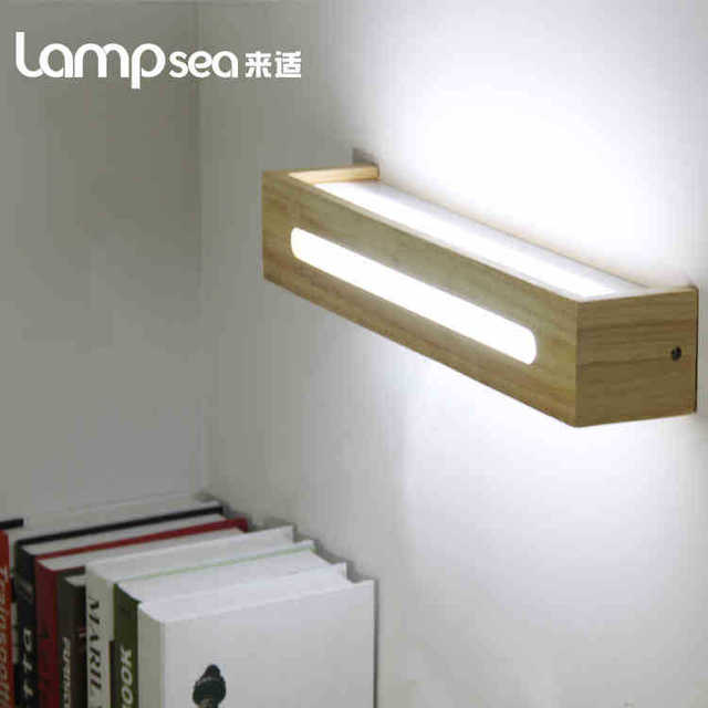 Led original wooden wooden lamp minimalist scandinavian ikea bedroom bedside mirror front entrance hallway lighting