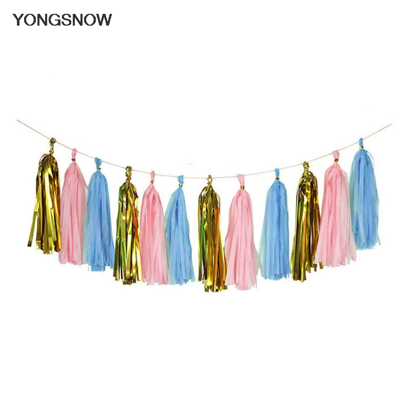 Paper Garland Bunting Drop for Wedding Party Baby Shower Decoration AL