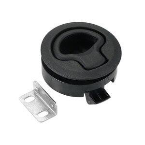 Image 3 - 4 pçs venda quente preto round deck lock flush pull slam trava elevador alça para barco marinha trava rv deck escotilha porta substituição