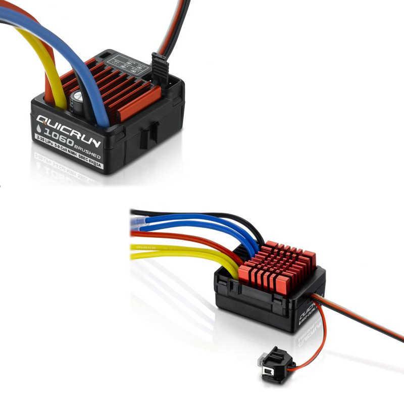 HobbyWing QuicRun 1080 80A 860 60A 1060 60A матовый электронный регулятор скорости ESC для радиоуправляемого автомобиля водонепроницаемый