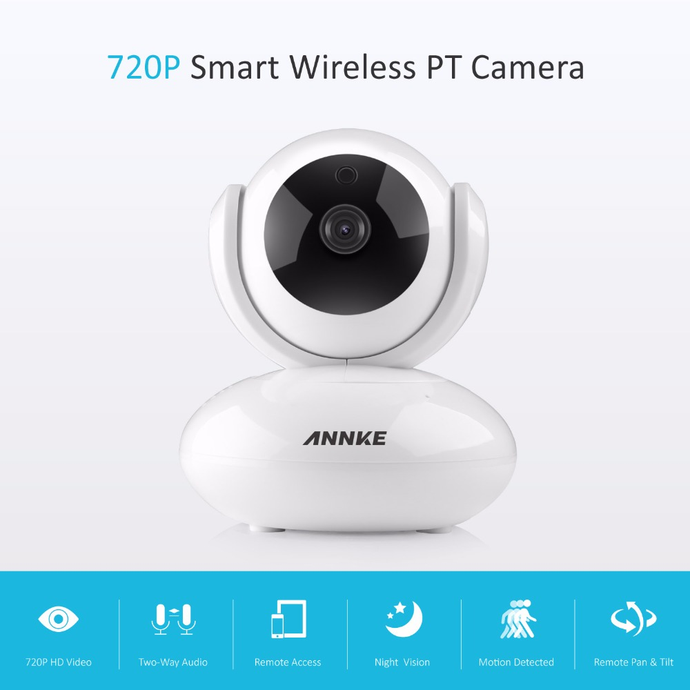 ANNKE Mini HD 720P Smart Wireless PT Security Camera 1.0MP indoor IP Camera WiFi baby Monitor 720P CCTV Surveillance Camera annke mini hd 720p smart wireless pt security camera 1 0mp indoor ip camera wifi baby monitor 720p cctv surveillance camera