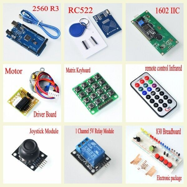 Free-shipping-mega-2560-r3-starter-kit-motor-servo-RFID-Ultrasonic-Ranging-relay-LCD-for-arduino (1)