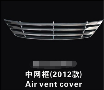 Stainless Steel Front Grille Around Trim Racing Grills Trim For 2012 Hyundai ix35