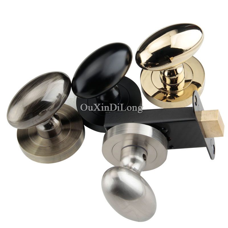 European Luxury Background Door Lock Interior Invisible Hidden Door Knobs Lock Bedroom Entry Handle Lock Without Key 4 Colors