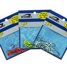 30pcs/lot  Ice Fishing Lures 20mm Jig Head Hook Fishing Bait  Isca Artificial Pesca Peche Leurre Dur