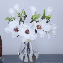 3pcs/lot 36CM Artificial Flower Wedding Party Decorative Mini Magnolia Home decoration Simulation Slik