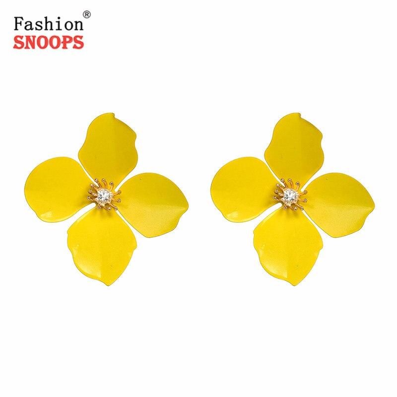 Trendy Fashion Elegant Charming Flower Stud Earring Big Maxi Statement Earring Wedding Jewelry 2019