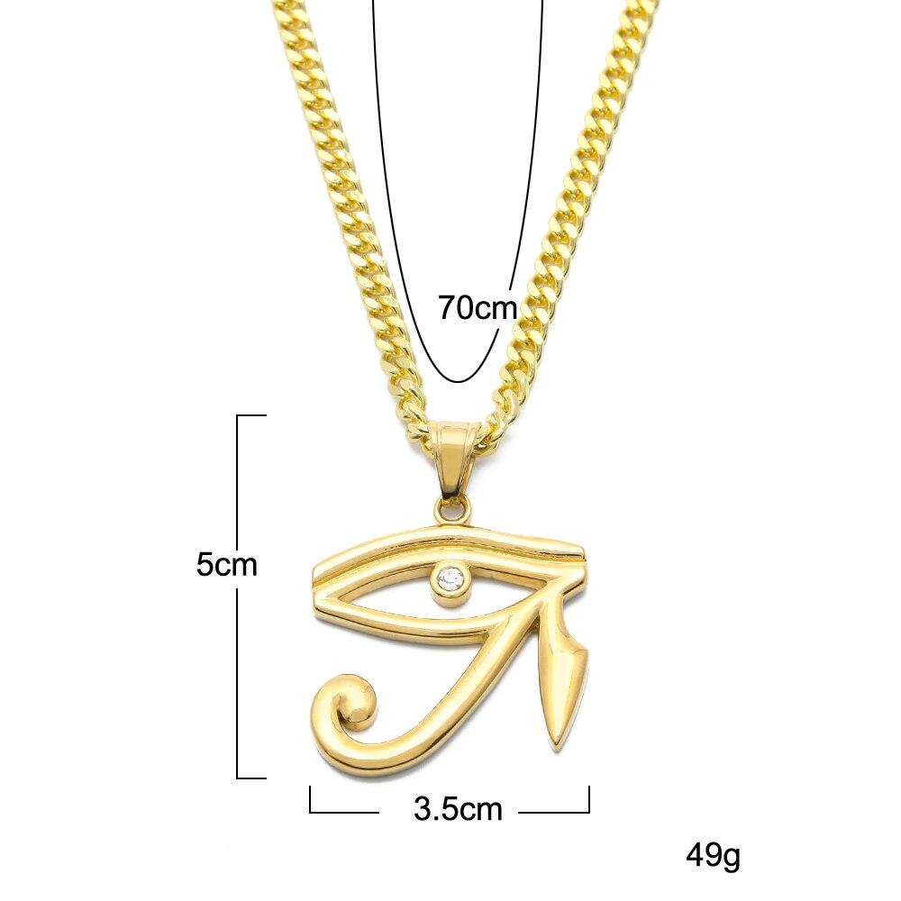 2018 Չժանգոտվող պողպատ Հորուսի հմայիչ - Նորաձև զարդեր - Լուսանկար 4