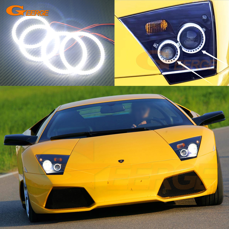 For Lamborghini Lp640 2006 2007 2008 Excellent angel eyes Ultra bright illumination smd led Angel Eyes Halo Ring kit