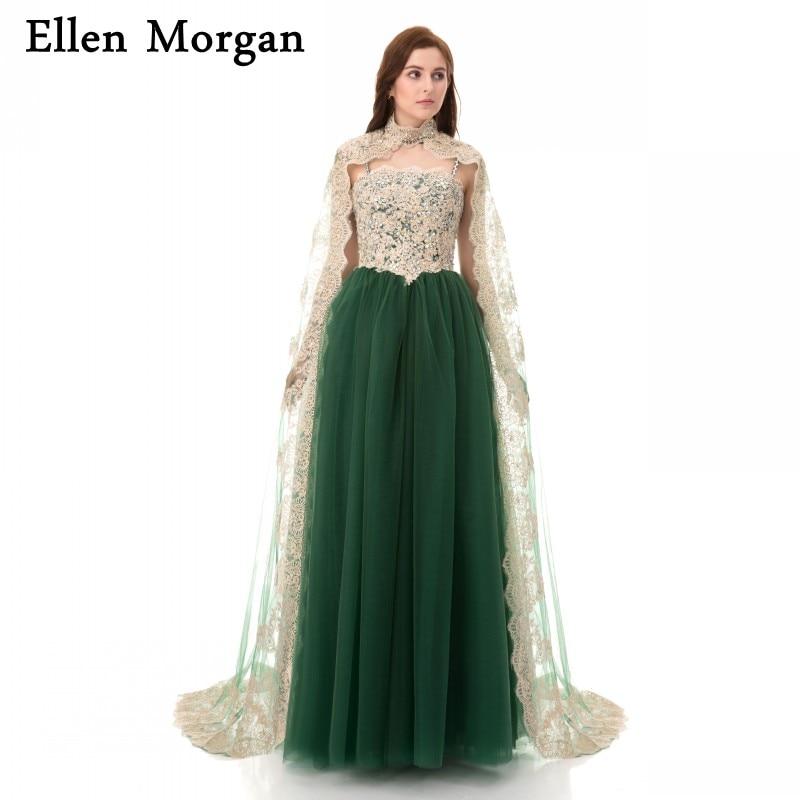 Saudi Arabia Evening Dresses 2018 Dubai Kaftan Lace Beaded High Neck ...