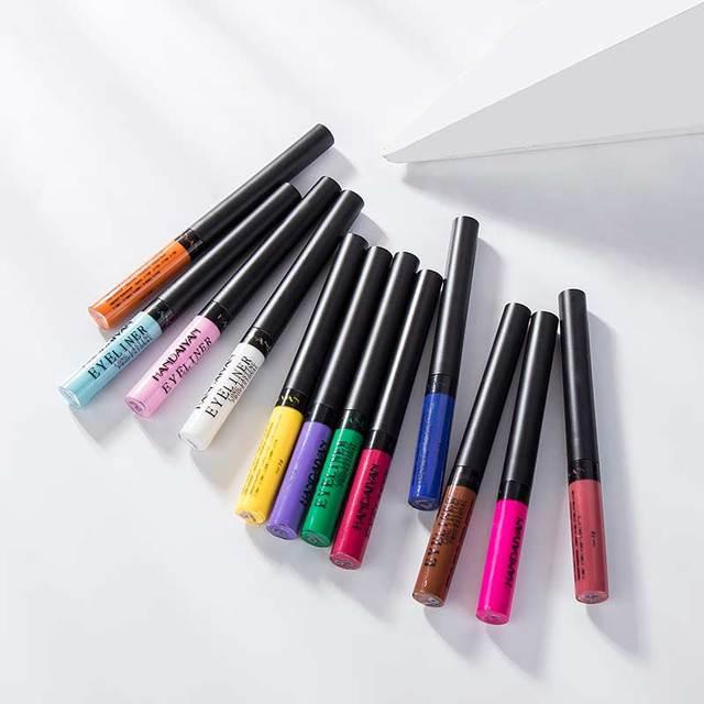 HANDAIYAN Matte Liquid Eyeliner Bright Color Waterproof Eye Liner Pencil Long-Lasting White Eye Liner Pen Eyes Makeup Cosmetics 2