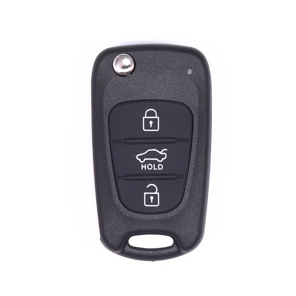 Horande Replacement Keyless Entry Remote Control Key Fob Case Fits Kia Soul Flip Car Key Blade Fob Shell Case Outer Cover