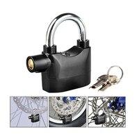 FK 8809 Free Shipping Top Quality Convenient Waterproof Alarm Padlock Safe Lock Alarm W/3Keys For Bike Security