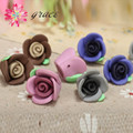 20pc/lot 13mm Small Resin Polymer Clay Fimo Unfinished Rose Flower Bead Mixed For Bracelet Jewelry Unique Craft Making accessory