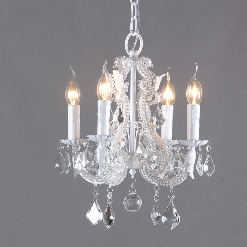 Современная роскошная хрустальная люстра освещение крепление свечи лампа Американский Ретро подвесной светильник ресторан кухня спальня