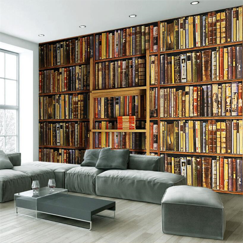 Online get cheap bookshelves living room for Cheap living room wallpaper
