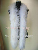 Frefree Shipping Real Mongolian Fur Overlength Scarf Cape White