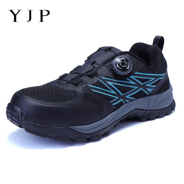 YJP Büyük Boy Hafif no-kravat Iş Güvenliği Ayakkabı Erkek Botları Spor No Lace Up Emek Ayakkabı Atrego Ayakkabı kurşun geçirmez Orta Taban Yeni