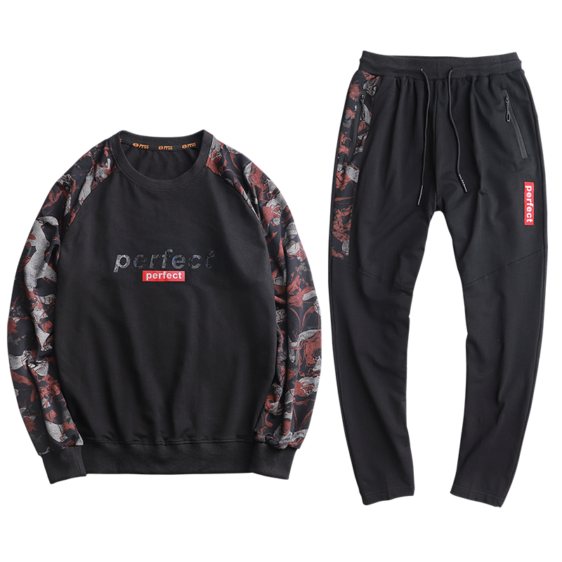 2019 New Men's Leisure Suit In Spring Plus Size And Loose Sportswear Boy Causal Wear For Promotion Wholesale