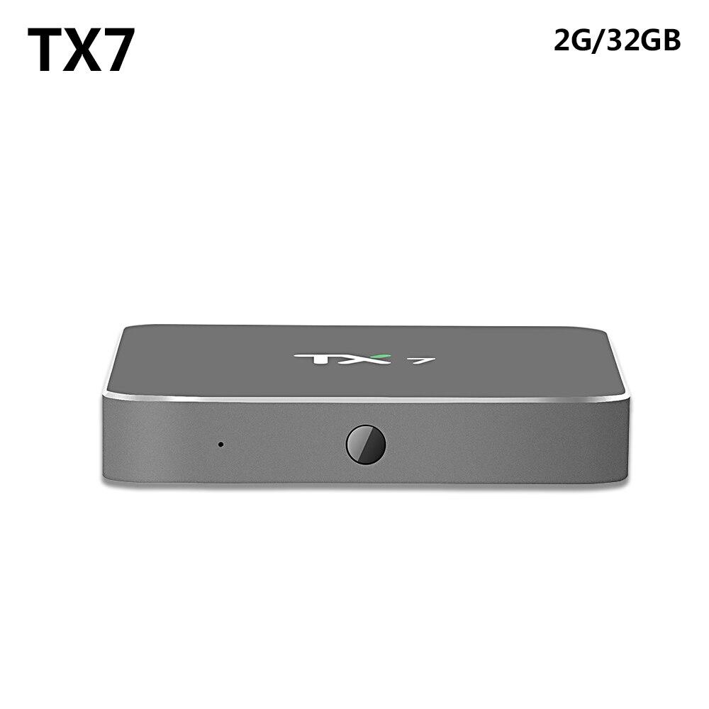 TX7 Smart Android 6.0 TV Box with Amlogic S905X Quad Core Dual 2GB/32GB WiFi 2.4GHz 5GHz Bluetooth 4.0 Mini PC TV Bov askent s 7 1 tx