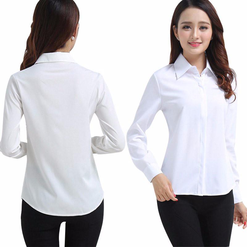 HTB1qtshNpXXXXaDXpXXq6xXFXXX8 - FREE SHIPPING White Blouse Shirt Women Work Wear Long Sleeve JKP092