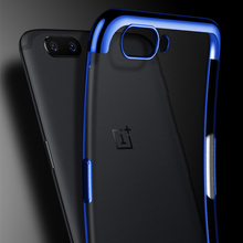 Plating Clear Silicone Case For Oneplus 3 3T Shockproof Cases Transparent Soft TPU Cover 7 Pro 6 6T 5T Phone