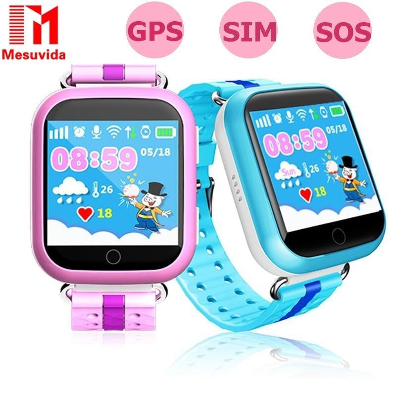 imágenes para Ruso Bebé Inteligente Reloj Q750 Q100 Kids Niño Niños Reloj Teléfono Wifi Pantalla Táctil Llamada SOS GPS Tracker for Kids PK Q50 Q90