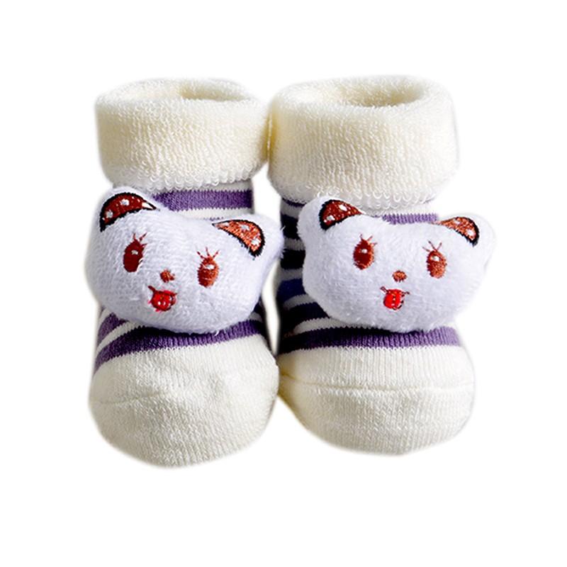One Pairs Baby Socks New Born Meias Terry Cotton Animal Chicken Socks Infant Winter Socks & Leg Warmers (10)