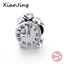 hot deal buy new arrival 925 sterling silver beads clock charms beads fit original european bracelet beads diy jewelry making for women gifts