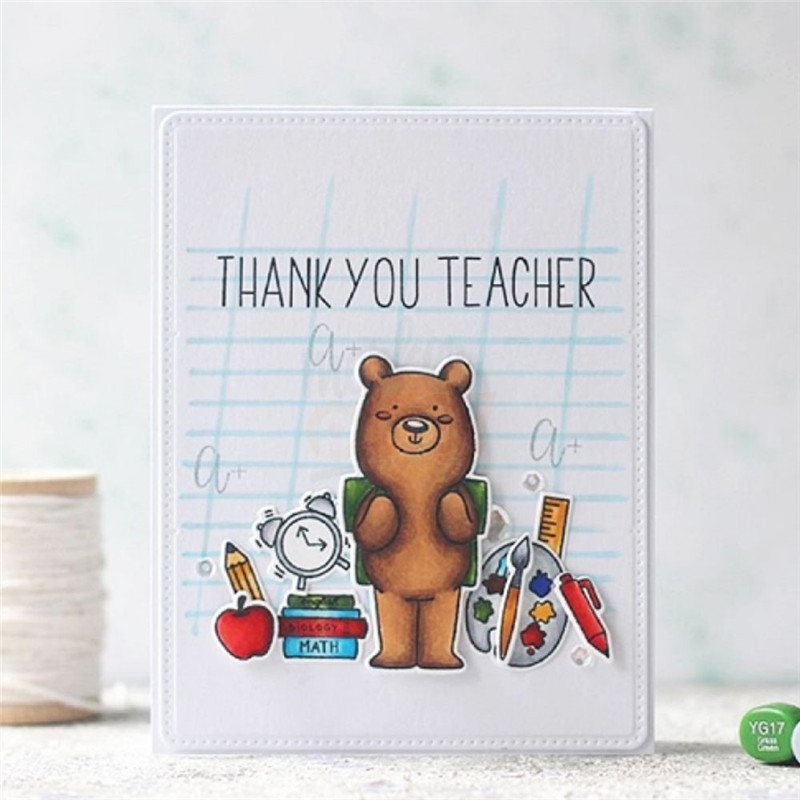 YaMinSanNiO Animal Stamp with Dies Scrapbooking Bear Metal Cutting Clear Card Making New 2019 Crafts