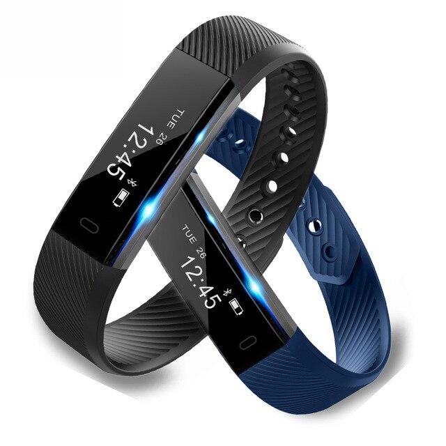 ID115 умный Браслет, счетчик шагов, фитнес SmartBand Вибрационный браслет будильник pk ID107 fit bit miband2 часы с сердцем