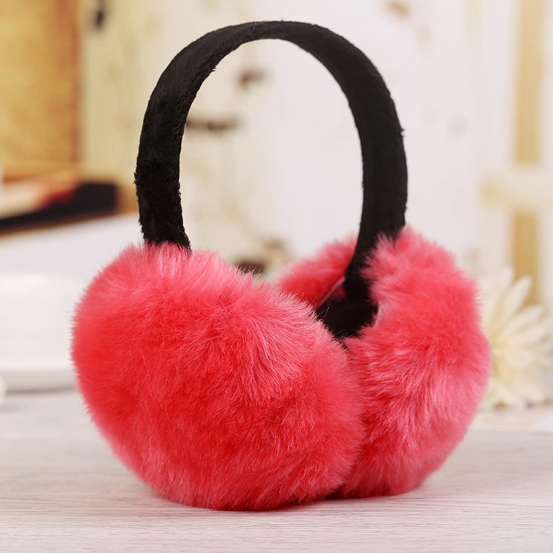 Hot Winter Women Men Earmuffs Lovers Ear Warmer Imitation Rabbit Plush Plain Teenage Earmuffs Student Girl Ear Muffs
