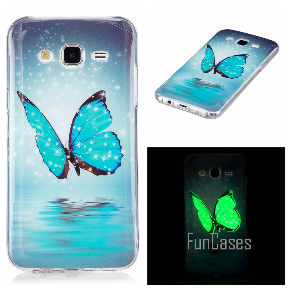 Luminous Case For coque Samsung Galaxy J7 Silicone Case Cover For coque Samsung J7 Case Cover J7 J700 J700F semsung handphone