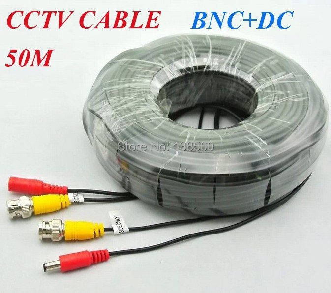 ФОТО Free Shipping CCTV CABLES 160FT 50M BNC POWER CABLE WITH CONNECTORS for CCTV Security System