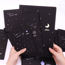 New Sketchbook Diary for Drawing Painting Graffiti Soft Cover Black Paper Sketch Book Notebook Office School Supplies Gift недорго, оригинальная цена