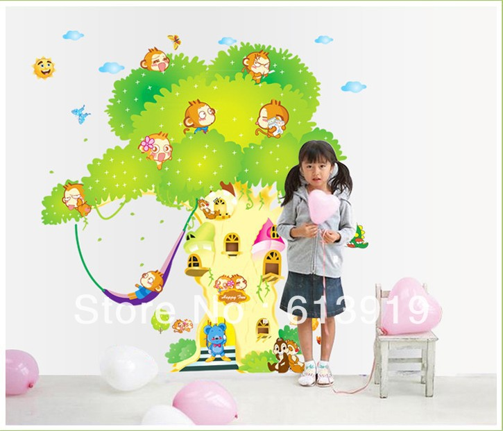 Largest Size Removable Children's Room Nursery Art Vinyl Decor DIY Home Wall Stickers 2pcs=1set - Decoration Sky store