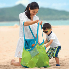 Polyester outdoor swimming beach bag Portable Beach Bag Foldable mesh swim toy storage Grid fast filtering packageB1
