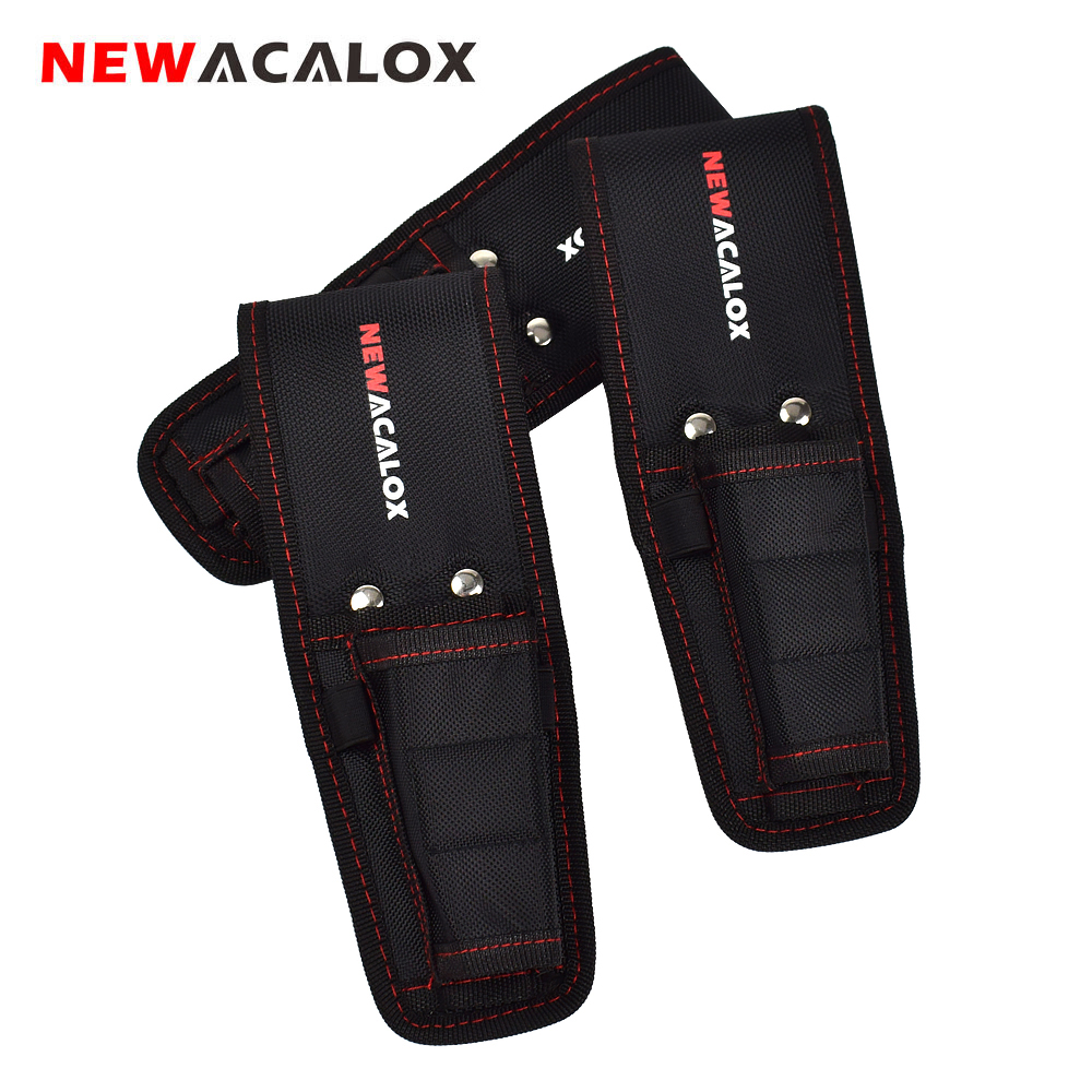 NEWACALOX Magnetic Waist Belt Tool Bag Pockets Electrician Storage Bags Organizer Carrying Pouch Pocket Case For Pliers/Hardware