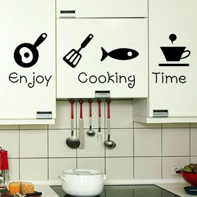 Fashion Design Creative DIY Wall Stickers Kitchen Decal Home Decor Interesting Home Interior Design Kitchen Creative
