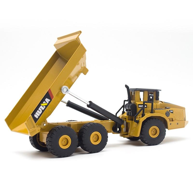 HUINA 1:50 Самосвал экскаватор колесный погрузчик литая металлическая модель строительная машина игрушки для мальчиков подарок на день рождения коллекция автомобилей - Цвет: dump truck