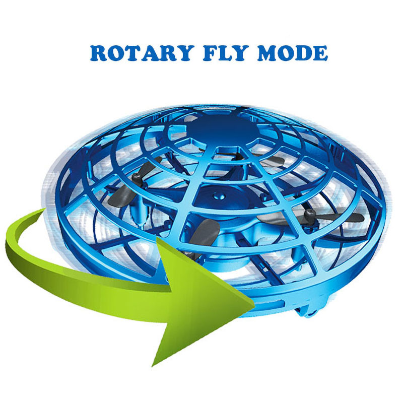 Mini UFO Drone Toys Infrared Sensing Control Interactive Aircraft Gesture Induction Controlled Altitude Hold Quadcopter for Kids