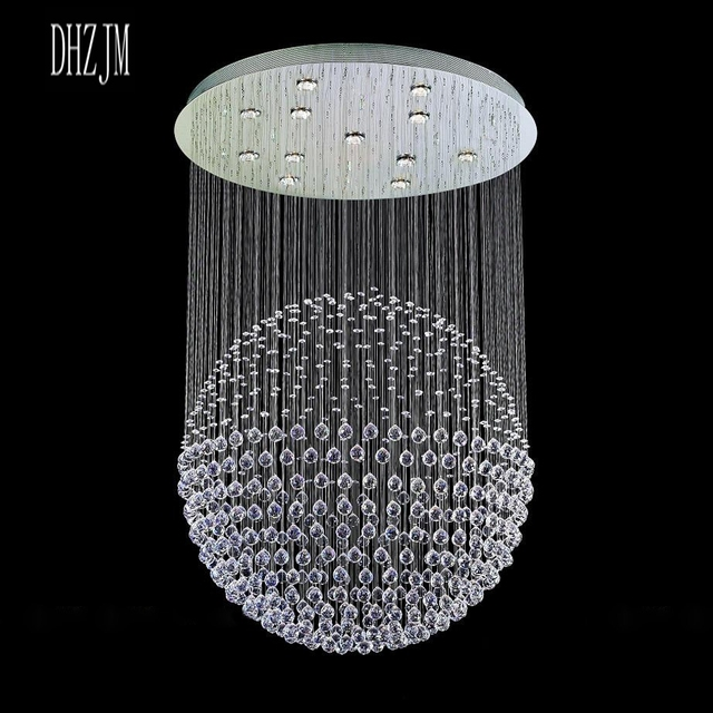 Modern Crystal Chandelier L& Lighting K9 Transparent Crystal Lustre led Pendant L& Art Gallery Painted LED : modern crystal chandelier lighting - azcodes.com
