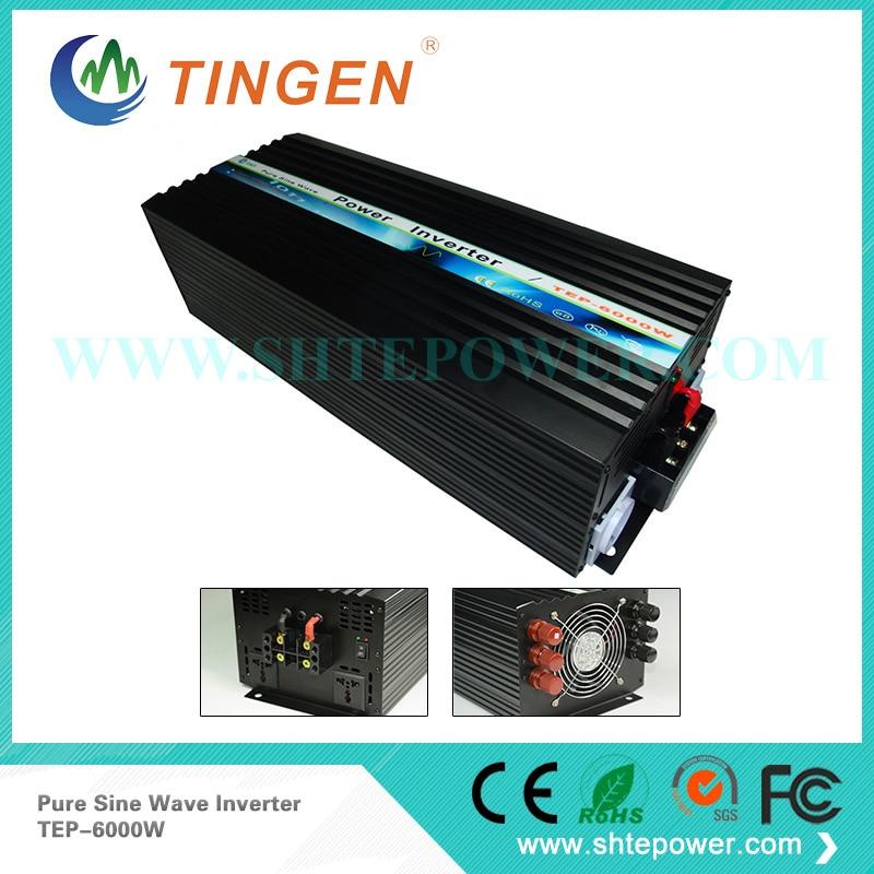 6kw pure sine wave dc to ac power inverter 12v to 110v/120v/220v, 6000watt 12vdc converter to 110ac