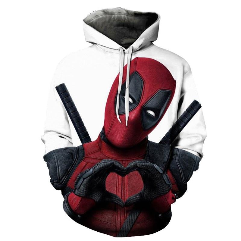 New 3D Printed Movie Superhero Deadpool 2 Men Women Hoodie Casual Pullover Hoodies Sweatshirts Streetwear Jacket Hip Hop 2019