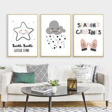 Seasons paintings promotion shop for promotional seasons paintings little star cartoon canvas painting seasons greetings wall art print poster home decor ly0051china m4hsunfo