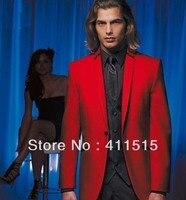Бесплатная доставка / красная куртка и черные брюки жених одежда смокинги жениха мужская свадебное платье костюм / на заказ костюм жилет