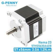 CNC Stepper motor 57x56 NEMA23 4 wires 3A 1.26N.m stepping motor 180Oz-in NEMA 23 for CNC engraving milling machine 3D printer original ma860h nema23 nema34 stepper motor driver peak current 2 4a 7 2a 18 80v for cnc router engraving milling machine