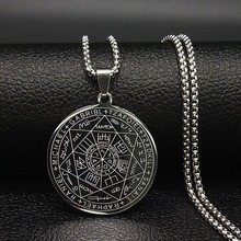 Fashion Witchcra Pentagram Stainless Steel Choker Necklaces Chain Jewelry Men Silver Color colgante N18903